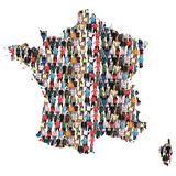 France map multicultural group of people integration immigration. Diversity isolated Stock Photography