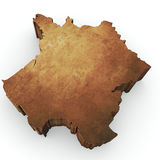 France map rendering Stock Photos