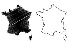 France map vector Stock Image