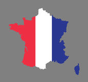 France map vector with the french flag Stock Image