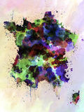 France map watercolor style splash Stock Photo