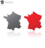 france mapa Fotografia Stock
