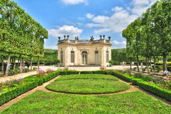 France, the Marie Antoinette estate in the parc of Versailles Pa Stock Photo
