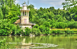 France, the Marie Antoinette estate in the parc of Versailles Pa Royalty Free Stock Photos