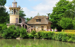 France, the Marie Antoinette estate in the parc of Versailles Pa Royalty Free Stock Photo