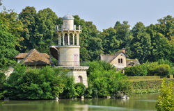 France, Marie Antoinette estate in the parc of Versailles Palace Stock Photos