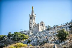 France marseille cathedral stock photo