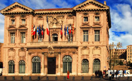 FRANCE, MARSEILLE -October 19, 2015: The city hall in Marseille. Royalty Free Stock Photo