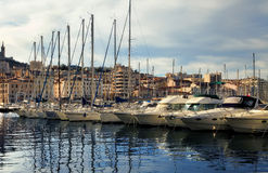 FRANCE, MARSEILLE -October 19, 2015: Old port (Vieux-Port). Royalty Free Stock Photography