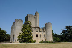 France, the medieval castle of Roquetaillade stock photo