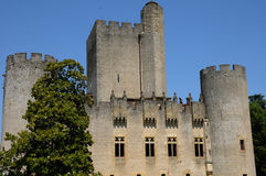 France, the medieval castle of Roquetaillade Royalty Free Stock Photo