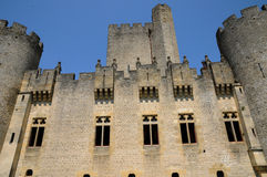 France, the medieval castle of Roquetaillade Stock Images