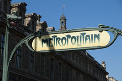 france metropolitain Paris Fotografia Stock