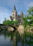 france Metz neuf świątynia obraz stock