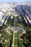 France miasta Paris panoramiczny widok Zdjęcie Stock