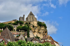 France, middle age castle of Beynac in Dordogne Stock Photos