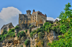 France, middle age castle of Beynac in Dordogne Royalty Free Stock Image
