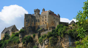France, middle age castle of Beynac in Dordogne Stock Photo