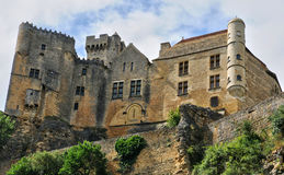 France, middle age castle of Beynac in Dordogne Royalty Free Stock Images