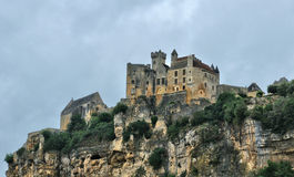 France, middle age castle of Beynac in Dordogne Royalty Free Stock Photos