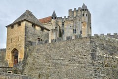 France, middle age castle of Beynac in Dordogne Stock Photography
