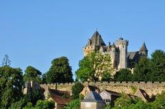 France, middle age castle of Montfort in Dordogne Stock Photo