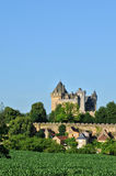 France, middle age castle of Montfort in Dordogne Stock Photography
