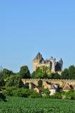 France, middle age castle of Montfort in Dordogne Stock Photography