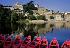 France midi pyrenees river lot Royalty Free Stock Photo