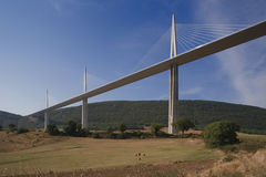 france millau viaduct Royaltyfri Bild