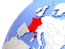 France on modern shiny globe Stock Photo