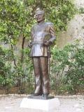 France Monaco Prince Rainier III statue in park stock image