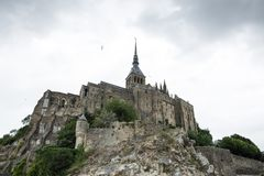 France mont saint michel royalty free stock photo