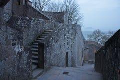 france Mont Saint-Michel i vintern Royaltyfri Foto