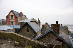 france Mont Saint-Michel i vintern Royaltyfri Fotografi