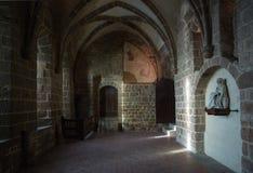 france Mont Saint-Michel i vintern Arkivfoto
