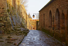 france Mont Saint-Michel no inverno Imagens de Stock Royalty Free
