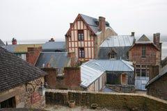 france Mont Saint-Michel no inverno Imagem de Stock