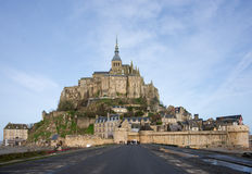 france Mont Saint-Michel no inverno Foto de Stock