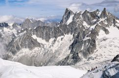 France, mountain range Mont Blanc Royalty Free Stock Images