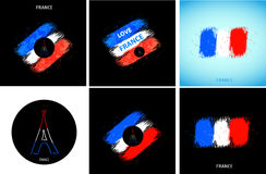 France national flag Royalty Free Stock Photo