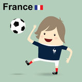 France national football team, businessman happy is playing socc Royalty Free Stock Photo