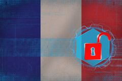 France network unprotected. Net safety concept. Stock Images