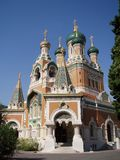 France, Nice. Orthodox cathedral in Nice, France Royalty Free Stock Image