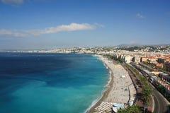 France, Nice, Côte d Azur. Promenade des Anglais Stock Photos