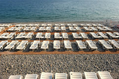 France, Nice: French Riviera. France, Nice: The French Riviera famous places. View of the Promenade des Anglais beach Stock Photos