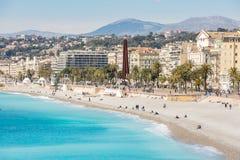 France Nice Mediterranean beach Stock Photography