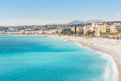 France Nice Mediterranean beach Royalty Free Stock Photography