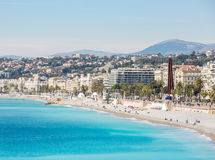 France Nice Mediterranean beach Royalty Free Stock Image