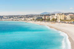 France Nice Mediterranean beach Royalty Free Stock Photo